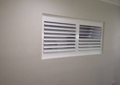 Small internal white shutters