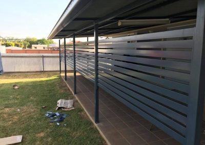 Duraslat Privacy Screen on outdoor area