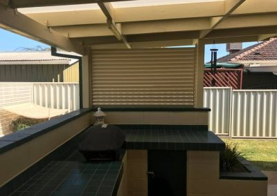 Duraslat Privacy Screen on BBQ area