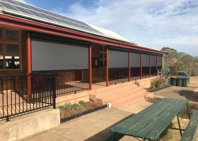Ziptrak® blinds on the front of St Joseph's School